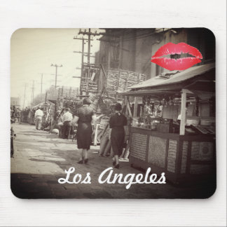 Los Angles California 1935 Olivera Street Photo Mouse Pad
