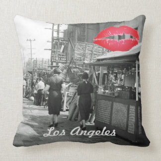 Los Angles California 1935 Olivera Street Photo Throw Pillow