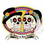 Los Novios Sugar Skull Cake Topper (Spanish)