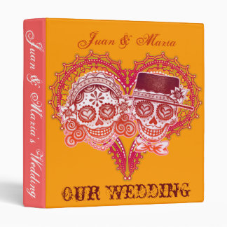 Los Novios - Sugar Skull Wedding Binder