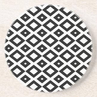 Losango Black Carries Cups Coaster