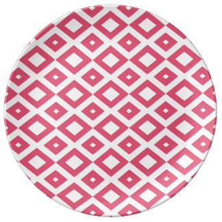 Losango Pink Plate Porcelain