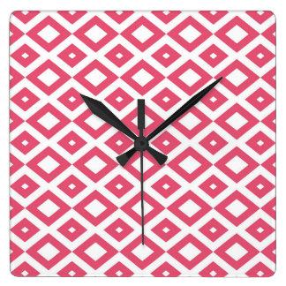 Losangos Pink Clocks