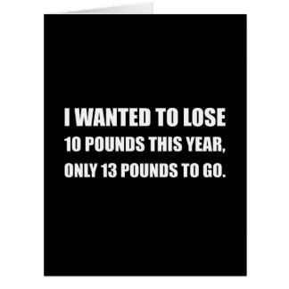 Lose 10 Pounds Card