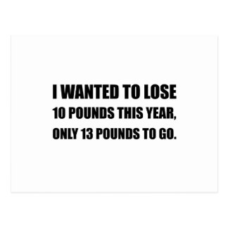 Lose 10 Pounds Postcard