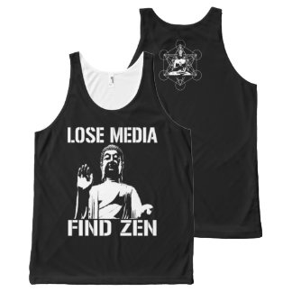 Lose Media find Zen All-Over-Print Tank Top