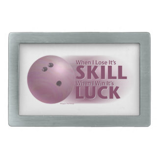 Lose Skill Win Luck Bowling Pink Belt Buckle