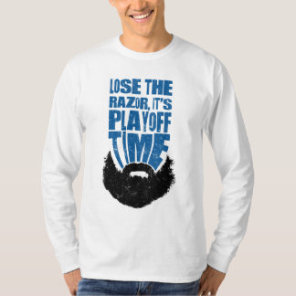 Lose the Razor, Hockey Playoff Beard T-Shirt