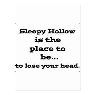 Lose your head in sleepy hollow postcard