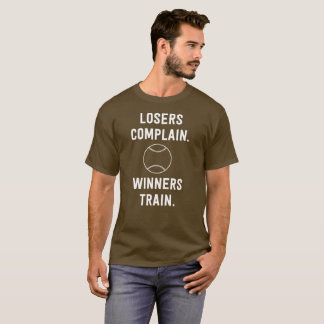 Loser Complain Winners Train Illustrated Baseball T-Shirt