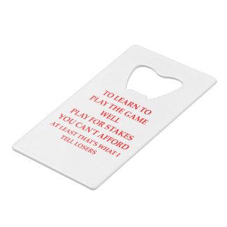 LOSERS CREDIT CARD BOTTLE OPENER