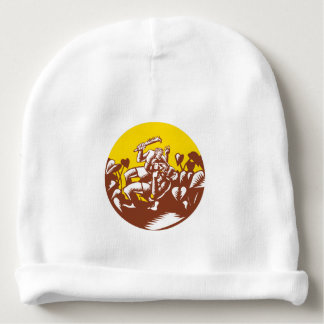 Losi Defeating God Circle Woodcut Baby Beanie