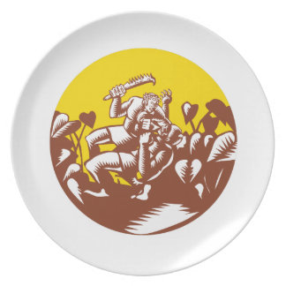 Losi Defeating God Circle Woodcut Plate