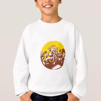 Losi Defeating God Circle Woodcut Sweatshirt