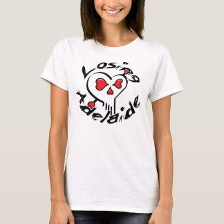 Losing Adelaide Heart Skull T-Shirt
