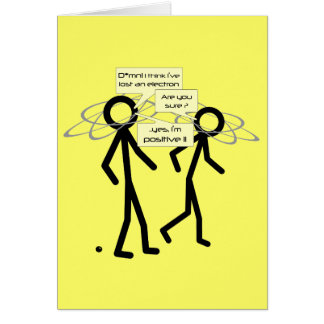 Losing An Electron joke - blank notelet / card