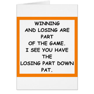 LOSING CARD
