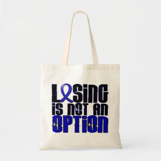 Losing Is Not An Option Colon Cancer Tote Bags