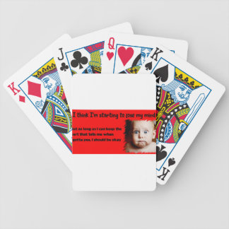Losing my Mind Bicycle Playing Cards