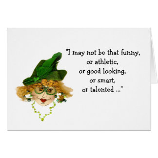Losing My Mind Whimsical Lady Card