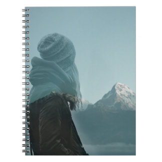 Losing myself in you double exposure photography spiral notebook