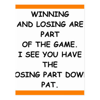 LOSING POSTCARD