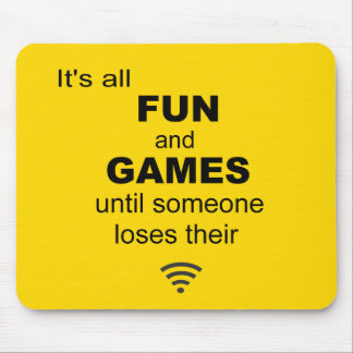 Losing WiFi Internet Mouse Mat - Bright Yellow