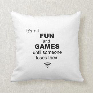 Losing WiFi Internet Pillow - White