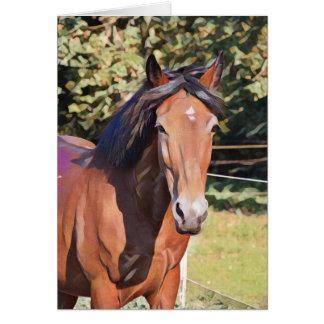 Loss of a Beloved Horse Custom Sympathy Card