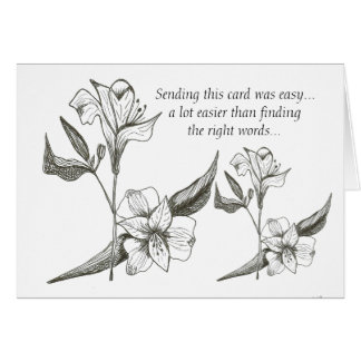 Loss of Aunt lilies card