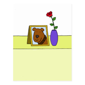 Loss of beloved pet dog, sympathy. postcard