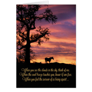 Loss of Horse, Horse Sympathy Card