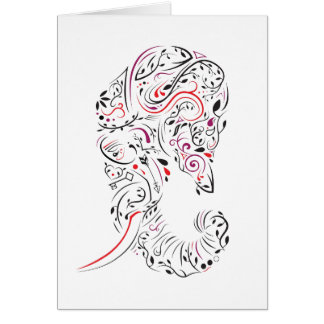 loss of mother elephant ornate sympathy card