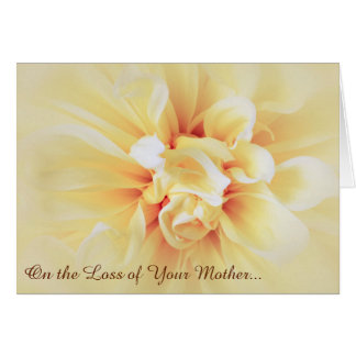 Loss of Mother Floral Sympathy Card