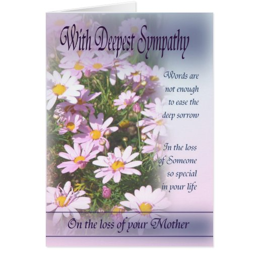 Loss of Mother - With Deepest Sympathy Cards