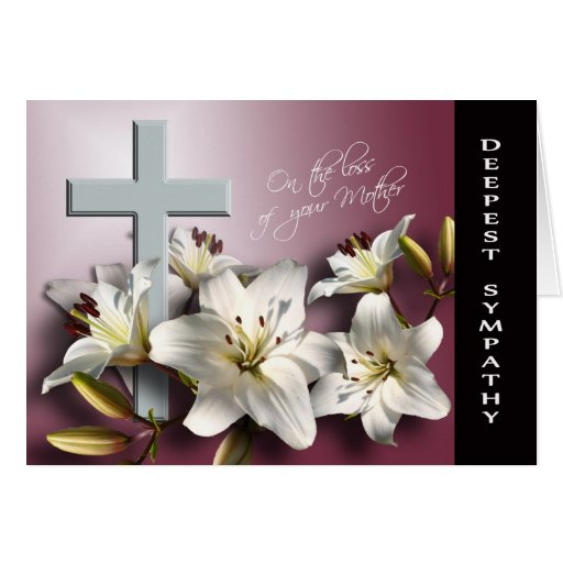 Loss of Mother - With Deepest Sympathy Greeting Cards