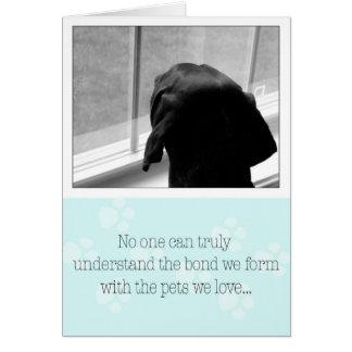 Loss of Pet Dog Sympathy Card Dog Waiting on Owner