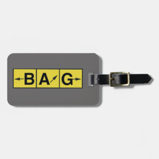 LOST Airport Directions, Airplane Pilot Aviator Luggage Tag