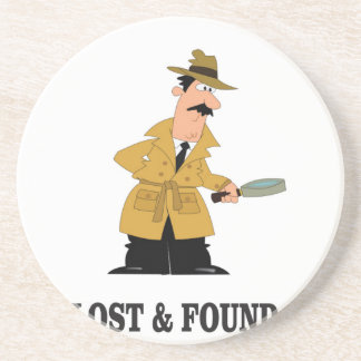 lost and found guy drink coaster
