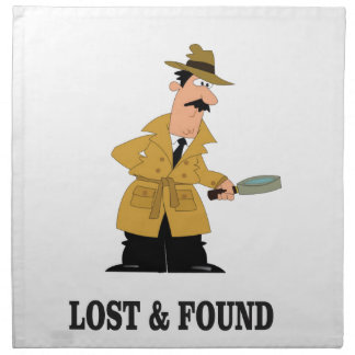 lost and found guy napkins