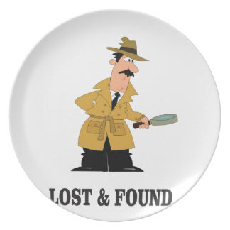lost and found guy plate