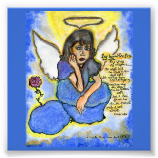 Lost Angel: Original Drawing Photo Print
