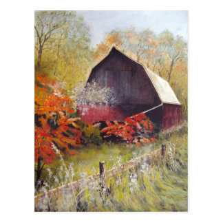 Lost Barn- postcard