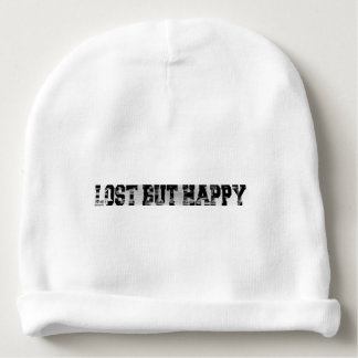 Lost but happy baby beanie