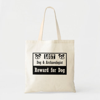 Lost Dog Archaeologist Tote Bag