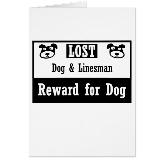 Lost Dog Linesman Card