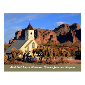 Lost Dutchman Museum Arizona Postcard