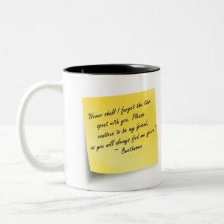 Lost Friends Two-Tone Coffee Mug