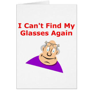 Lost Glasses Again Card