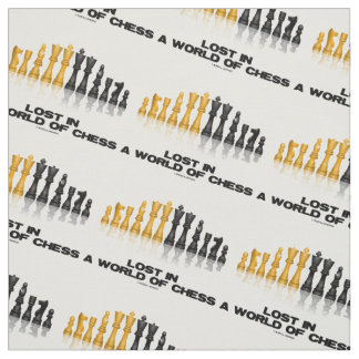 Lost In A World Of Chess Reflective Chess Set Fabric